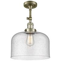 Innovations Lighting 201F-AB-G74-L X-Large Bell 1 Light 12 inch Antique Brass Semi-Flush Mount Ceiling Light Franklin Restoration