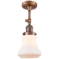 Innovations Lighting 201F-AC-G191-LED Bellmont LED 6 inch Antique Copper Semi-Flush Mount Ceiling Light Franklin Restoration