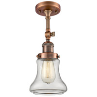 Innovations Lighting 201F-AC-G192-LED Bellmont LED 6 inch Antique Copper Semi-Flush Mount Ceiling Light