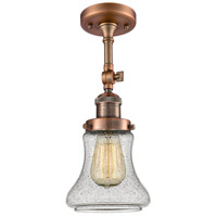 Innovations Lighting 201F-AC-G194-LED Bellmont LED 6 inch Antique Copper Semi-Flush Mount Ceiling Light