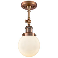 Innovations Lighting 201F-AC-G201-6 Beacon 1 Light 6 inch Antique Copper Semi-Flush Mount Ceiling Light Franklin Restoration