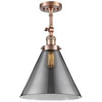 Innovations Lighting 201F-AC-G43-L-LED X-Large Cone LED 12 inch Antique Copper Semi-Flush Mount Ceiling Light Franklin Restoration