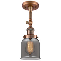 Innovations Lighting 201F-AC-G53 Small Bell 1 Light 5 inch Antique Copper Semi-Flush Mount Ceiling Light Franklin Restoration