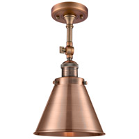 Innovations Lighting 201F-AC-M13-AC-LED Appalachian LED 8 inch Antique Copper Semi-Flush Mount Ceiling Light, Franklin Restoration