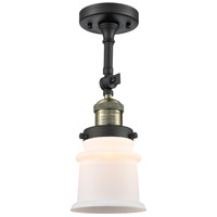 Innovations Lighting 201F-BAB-G181S-LED Small Canton LED 6 inch Black Antique Brass Semi-Flush Mount Ceiling Light Franklin Restoration