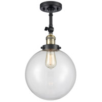 Innovations Lighting 201F-BAB-G202-10-LED X-Large Beacon LED 10 inch Black Antique Brass Semi-Flush Mount Ceiling Light Franklin Restoration