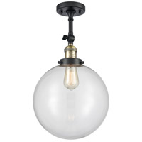 Innovations Lighting 201F-BAB-G202-12-LED XX-Large Beacon LED 12 inch Black Antique Brass Semi-Flush Mount Ceiling Light Franklin Restoration