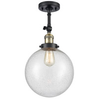 Innovations Lighting 201F-BAB-G204-10-LED X-Large Beacon LED 10 inch Black Antique Brass Semi-Flush Mount Ceiling Light Franklin Restoration