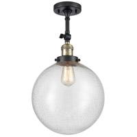 Innovations Lighting 201F-BAB-G204-12-LED XX-Large Beacon LED 12 inch Black Antique Brass Semi-Flush Mount Ceiling Light Franklin Restoration
