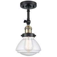 Innovations Lighting 201F-BAB-G324-LED Olean LED 7 inch Black Antique Brass Semi-Flush Mount Ceiling Light Franklin Restoration