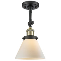 Innovations Lighting 201F-BAB-G41-L X-Large Cone 1 Light 12 inch Black Antique Brass Semi-Flush Mount Ceiling Light Franklin Restoration