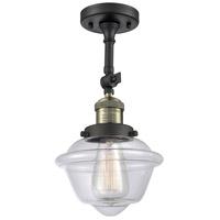 Innovations Lighting 201F-BAB-G532 Small Oxford 1 Light 8 inch Black Antique Brass Semi-Flush Mount Ceiling Light, Franklin Restoration