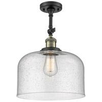 Innovations Lighting 201F-BAB-G74-L-LED X-Large Bell LED 12 inch Black Antique Brass Semi-Flush Mount Ceiling Light Franklin Restoration