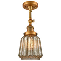 Chatham LED 6 inch Brushed Brass Semi-Flush Mount Ceiling Light