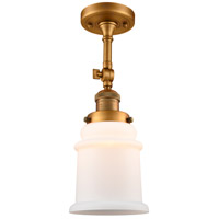 Innovations Lighting 201F-BB-G181-LED Canton LED 6 inch Brushed Brass Semi-Flush Mount Ceiling Light Franklin Restoration