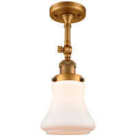 Innovations Lighting 201F-BB-G191-LED Bellmont LED 6 inch Brushed Brass Semi-Flush Mount Ceiling Light Franklin Restoration
