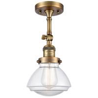 Innovations Lighting 201F-BB-G322 Olean 1 Light 7 inch Brushed Brass Semi-Flush Mount Ceiling Light Franklin Restoration