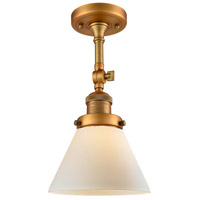 Innovations Lighting 201F-BB-G41-L X-Large Cone 1 Light 12 inch Brushed Brass Semi-Flush Mount Ceiling Light Franklin Restoration