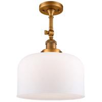 Innovations Lighting 201F-BB-G71-L X-Large Bell 1 Light 12 inch Brushed Brass Semi-Flush Mount Ceiling Light Franklin Restoration