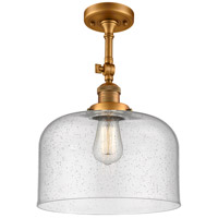 Brushed Brass X-Large Bell Semi-Flush Mounts