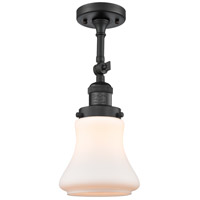 Innovations Lighting 201F-BK-G191-LED Bellmont LED 6 inch Matte Black Semi-Flush Mount Ceiling Light Franklin Restoration