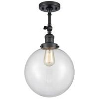 Innovations Lighting 201F-BK-G202-10 X-Large Beacon 1 Light 10 inch Matte Black Semi-Flush Mount Ceiling Light Franklin Restoration