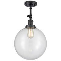 Innovations Lighting 201F-BK-G202-12 XX-Large Beacon 1 Light 12 inch Matte Black Semi-Flush Mount Ceiling Light Franklin Restoration