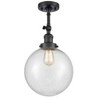 Innovations Lighting 201F-BK-G204-10 X-Large Beacon 1 Light 10 inch Matte Black Semi-Flush Mount Ceiling Light Franklin Restoration