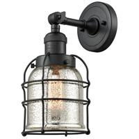 Innovations Lighting 201F-BK-G58-CE Small Bell Cage 1 Light 5 inch Matte Black Semi-Flush Mount Ceiling Light Franklin Restoration