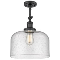 Innovations Lighting 201F-BK-G74-L-LED X-Large Bell LED 12 inch Matte Black Semi-Flush Mount Ceiling Light Franklin Restoration