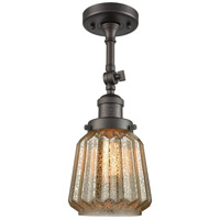 Chatham LED 6 inch Oil Rubbed Bronze Semi-Flush Mount Ceiling Light