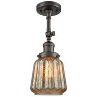 Innovations Lighting 201F-OB-G146-LED Chatham LED 6 inch Oil Rubbed Bronze Semi-Flush Mount Ceiling Light Franklin Restoration