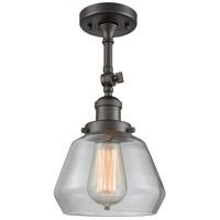 Innovations Lighting 201F-OB-G172-LED Fulton LED 7 inch Oil Rubbed Bronze Semi-Flush Mount Ceiling Light, Franklin Restoration