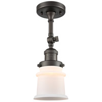 Innovations Lighting 201F-OB-G181S Small Canton 1 Light 6 inch Oil Rubbed Bronze Semi-Flush Mount Ceiling Light Franklin Restoration