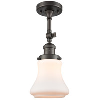 Innovations Lighting 201F-OB-G191-LED Bellmont LED 6 inch Oil Rubbed Bronze Semi-Flush Mount Ceiling Light Franklin Restoration