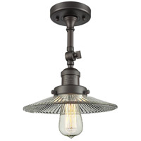 Innovations Lighting 201F-OB-G2-LED Halophane LED 9 inch Oil Rubbed Bronze Semi-Flush Mount Ceiling Light Franklin Restoration