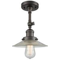 Innovations Lighting 201F-OB-G2-LED Halophane LED 9 inch Oil Rubbed Bronze Semi-Flush Mount Ceiling Light, Franklin Restoration