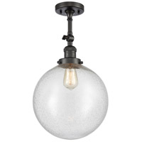 Innovations Lighting 201F-OB-G204-12 XX-Large Beacon 1 Light 12 inch Oil Rubbed Bronze Semi-Flush Mount Ceiling Light, Franklin Restoration