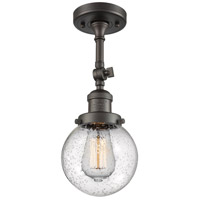 Innovations Lighting 201F-OB-G204-6 Beacon 1 Light 6 inch Oil Rubbed Bronze Semi-Flush Mount Ceiling Light Franklin Restoration