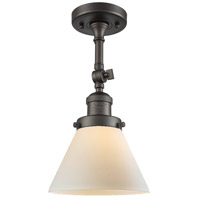 Innovations Lighting 201F-OB-G41-LED Large Cone LED 8 inch Oil Rubbed Bronze Semi-Flush Mount Ceiling Light
