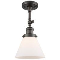 Innovations Lighting 201F-OB-G41-LED Large Cone LED 8 inch Oil Rubbed Bronze Semi-Flush Mount Ceiling Light, Franklin Restoration