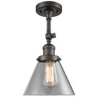 Innovations Lighting 201F-OB-G42-LED Large Cone LED 8 inch Oil Rubbed Bronze Semi-Flush Mount Ceiling Light