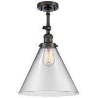 Innovations Lighting 201F-OB-G42-L-LED X-Large Cone LED 12 inch Oil Rubbed Bronze Semi-Flush Mount Ceiling Light Franklin Restoration