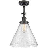 Innovations Lighting 201F-OB-G44-L-LED X-Large Cone LED 12 inch Oil Rubbed Bronze Semi-Flush Mount Ceiling Light Franklin Restoration
