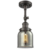 Innovations Lighting 201F-OB-G53-LED Small Bell LED 5 inch Oil Rubbed Bronze Semi-Flush Mount Ceiling Light