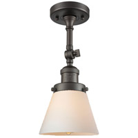 Innovations Lighting 201F-OB-G61-LED Small Cone LED 6 inch Oil Rubbed Bronze Semi-Flush Mount Ceiling Light