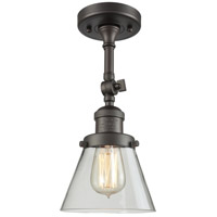 Innovations Lighting 201F-OB-G62-LED Small Cone LED 6 inch Oil Rubbed Bronze Semi-Flush Mount Ceiling Light
