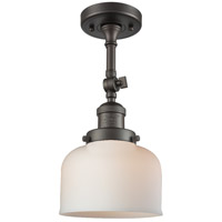 Innovations Lighting 201F-OB-G71-LED Large Bell LED 8 inch Oil Rubbed Bronze Semi-Flush Mount Ceiling Light