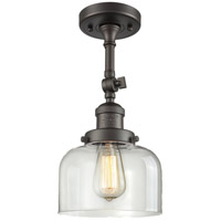 Innovations Lighting 201F-OB-G72-LED Large Bell LED 8 inch Oil Rubbed Bronze Semi-Flush Mount Ceiling Light