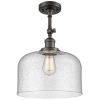 Innovations Lighting 201F-OB-G74-L-LED X-Large Bell LED 12 inch Oil Rubbed Bronze Semi-Flush Mount Ceiling Light Franklin Restoration